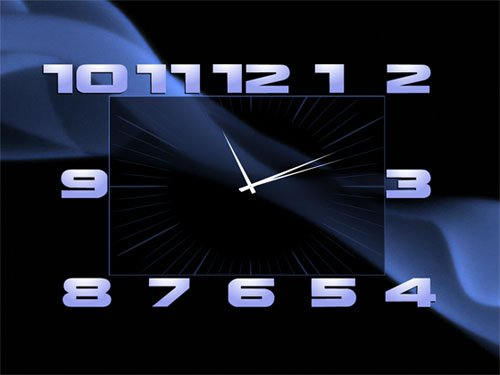 заставка часы на рабочий стол windows 7 № 203034  скачать